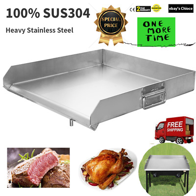 "32""x18"" Stainless Steel Portable Griddle Flat Top Grill for Triple Burner Stove"