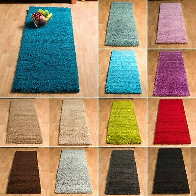 Plain Shaggy Soft Thick 5cm Small Large Cheap Modern Non-shed Rugs Clearance