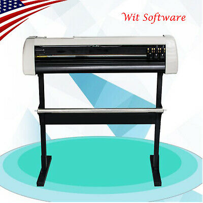 """US 28""""Cutting Plotter Vinyl Cutter Machine Adjustable Width With LCD USB Connect"""