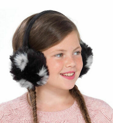 Girls Fluffy Faux Fur Plush Ear Muffs - 3 Colours To Choose From