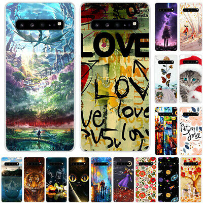 For Samsung Galaxy S10 E Note 10 Ultra Slim Painted Soft Silicone TPU Case Cover