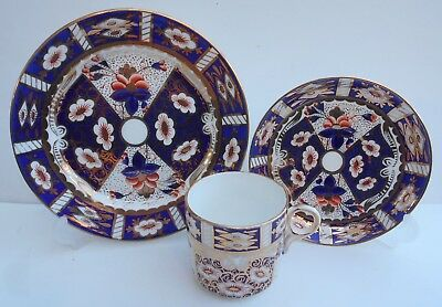 Antique China Cup Saucer Side Plate Painted Gilt Imari Pattern Witches Eye 2