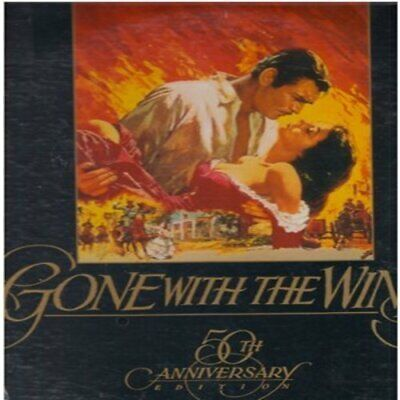 Gone With The Wind 50th Anniversary LASERDISC 2 Discs, SEALED Free Ship