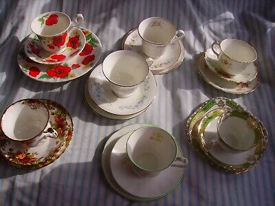 Assortment of tea cups, saucers and side plates (trio's)