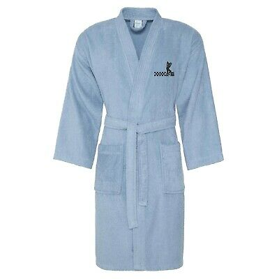 Unisex Ska Man Bath Robe With Embroidered Logo. Ska, Two-Tone. Northern Soul