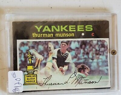 1970 TOPPS THURMAN MUNSON ALL-STAR ROOKIE perfect condition in hard plastic OBO