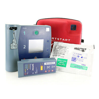 Philips Heartstart FR2+ AED with ECG + Neat Case + Good Battery + New Pads