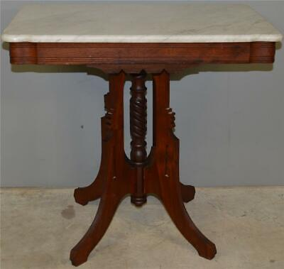 17552 Victorian Marble Top Shapely Stand