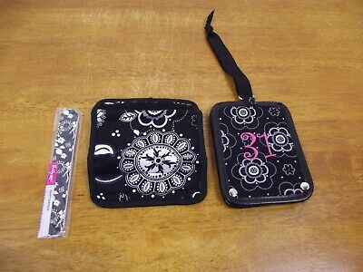 NEW Thirty-One Floral Carry Me Always Luggage Tag & Handle Cover & Nail File