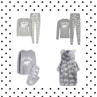 Primark Polar Bear Family Christmas Pyjamas PJs Mens Womens Boys Girls Matching