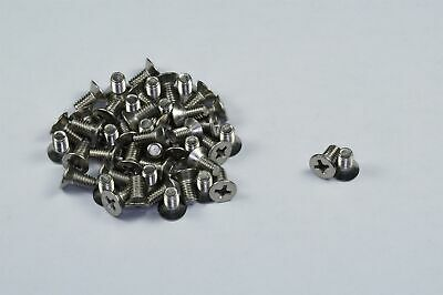 Lot of 50 Phillips Flat Head Machine Screw M4-.7 x 8mm Stainless Steel NOS