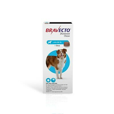 BRAVECTO - 20-40kg (44-88lbs)protection for up to 12 full weeks with 1 chew!