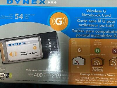 Dynex Wireless G Notebook Card Network Adapters Computers ...