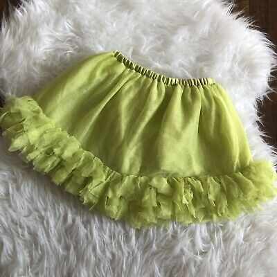 Gymboree Girls 3T Bright Lime Green Tutu and Diaper Cover
