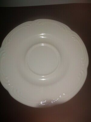 Pfaltzgraff Meadow Lane Filigree White Saucer for Flat cup 6 inches