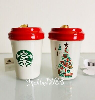 Disney Parks Disneyland Happy Holidays Starbucks Travel TO GO Tumbler Ornament