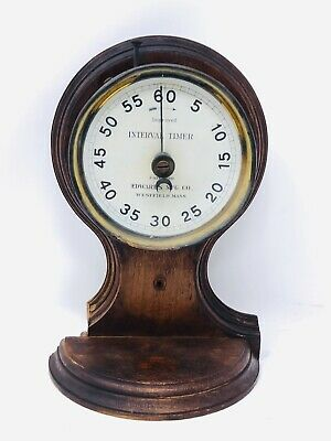Antique Edwards Mfg Co Westfield MA Interval Timer Clock