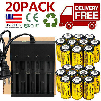 20x CR123A 3.7V Li-Ion Rechargeable Batteries for Netgear Arlo Security Camera T