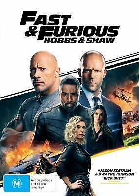 FAST & FURIOUS PRESENTS: HOBBS AND SHAW (2019): Action, Spinoff - NEW Au Rg4 DVD