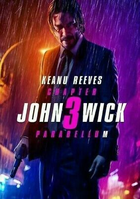 John Wick: Chapter 3 Parabellum (DVD, 2019) Keanu Reeves ,New.