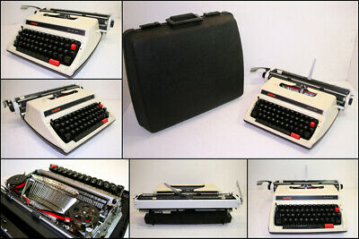 Vintage Brother Deluxe 1613 Portable Typewriter with Carry Case