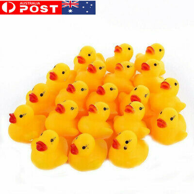 AU Mini Yellow Bathtime Rubber Duck Ducks Bath Toy Squeaky Water Play Toddler