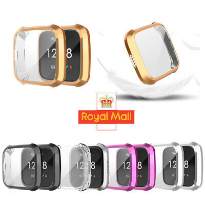 Fitbit Versa Lite Full Protective Case Cover Plating TPU Screen Protector Case N