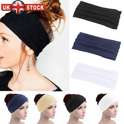 11.5cm Wide Stretchy Kylie Neon Band Hairband 80/'s Style Sports Dance Headband