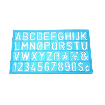 Craft Alphabet Stencil Numbers Letters Template Ruler Flexible Bendable