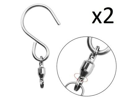 5 x SWIVEL HOOK for hanging Wind Spinners//Crystal Twister//Spiral Tails Iron Stop