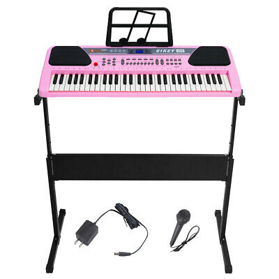 61 Key Music Electronic Keyboard Digital Piano Organ Microphone w/ Stand Option