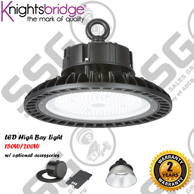 LED High Bay Light 150W 200W Warehouse Shop Garage Lights Industrial Reflectors
