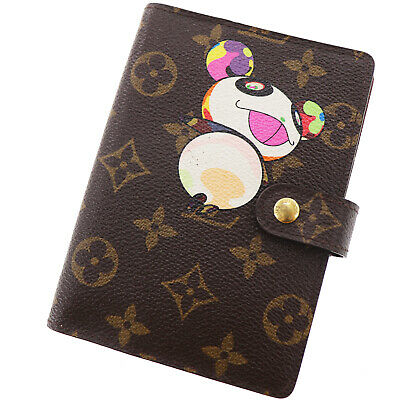 LOUIS VUITTON Panda Agenda PM Day Planner Cover Monogram R20011 Auth #EE424 M