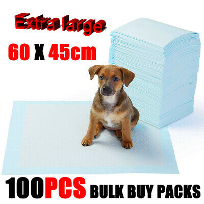 100X Dog Puppy Extra Large Training Pads Pad Wee Floor Toilet Mats 60 x 45cm ht