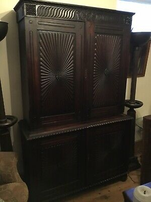 A Rare Early 19th Century Anglo Indian Rosewood Press Cupboard