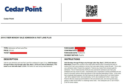 2 Cedar Point Bundle Tickets - Get access to tickets Today