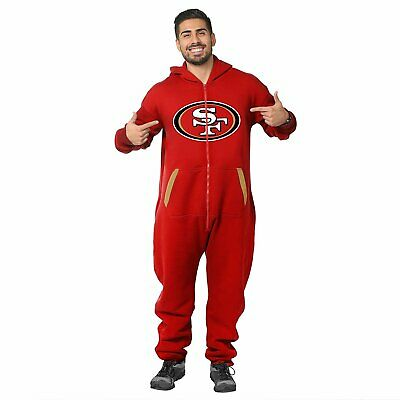 Forever Collectibles NFL Unisex San Francisco 49ers Logo Jumpsuit, Red