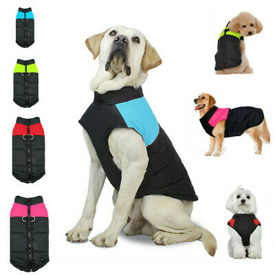 Muti-size Waterproof Dog Clothes Winter Warm Padded Pets Coat Vest Jacket S-5XL
