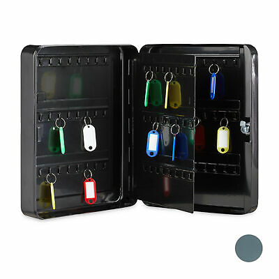 Key Cabinet with 96 Hooks, Secure Lockable Key Box, Safe