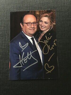 François Hollande Julie Gayet Photo  dedicace autograph