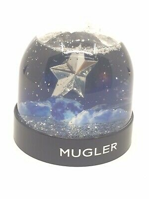 Rare Promotional Campaign Thierry Mugler ANGEL Snow Globe Dome Glitter Star