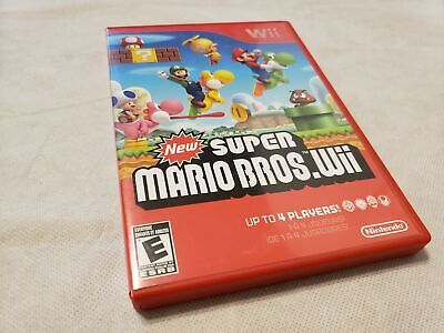 NEW SUPER MARIO Bros Wii - Nintendo Wii Game 1-4 Players