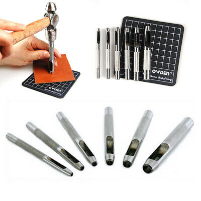 Leather Oval Shape Hole Punch Kit Cutter Belt Watch Band Gasket Hollow DIY Tool