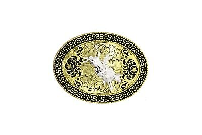 DURABLE WESTERN COWBOY Cowgirl Shiny Concho Buckle Leather