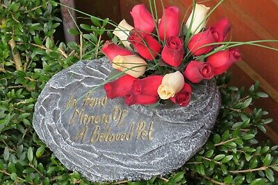Concrete Stone In Fond Memory Of A Beloved Pet