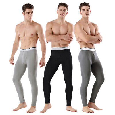 Mens Long Johns Thermal Underwear Thick Warm Bottom Pants Winter Pajamas Home