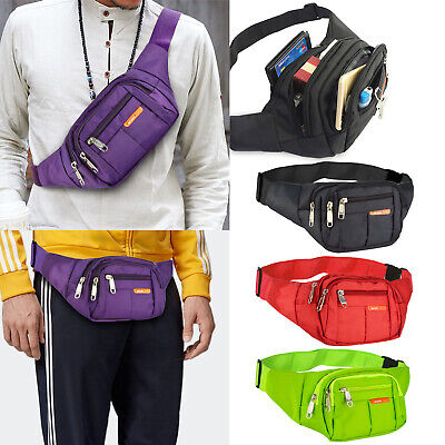 Men Women Fanny Pack Belt waist Bag Cross body Sling Shoulder Travel Sport Pouch