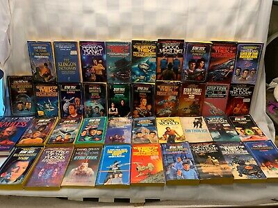 Large STAR TREK Book Mix Lot Novel Best of Paperback