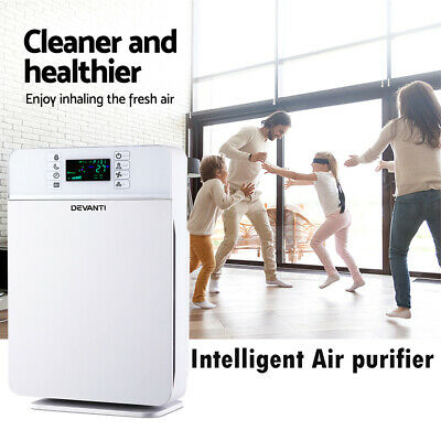Air Purifier Built-in Ioniser HEPA Carbon Odor Dust Cleaner Freshener Timer