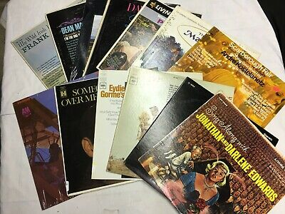 Assorted Lot of 10 Pop, Jazz & Easy Listening LPs' Records     X-270